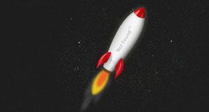 css3动画404网页火箭动态飞行特效代码Creating an Animated 404 Page | Tutorialzine Demo