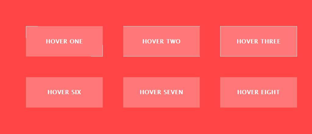 鼠标hover悬浮于div图层展示不同动画效果的css3按钮样式代码