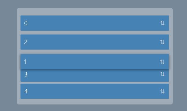 拖放排序列表slip.js插件JavaScript代码网站素材