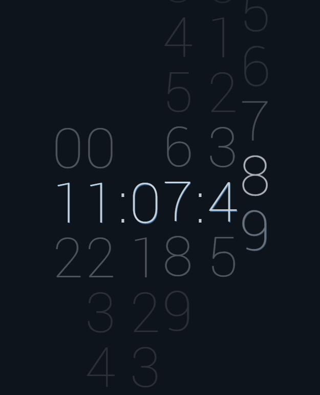 jQuery时间秒表滑动时钟插件JavaScript特效代码