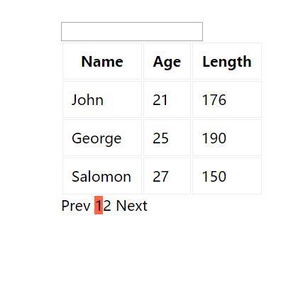 Vue.js实现数据分页搜索功能网页素材代码