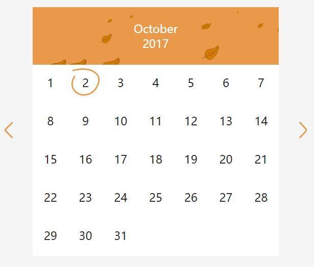 带有动画头的SVG季节日历控件jQuery插件代码