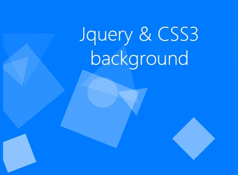 jquery css3背景图3d几何图形漂浮上升动画特效代码