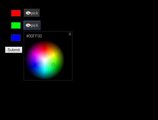 自定义球形网页颜色取色器插件代码