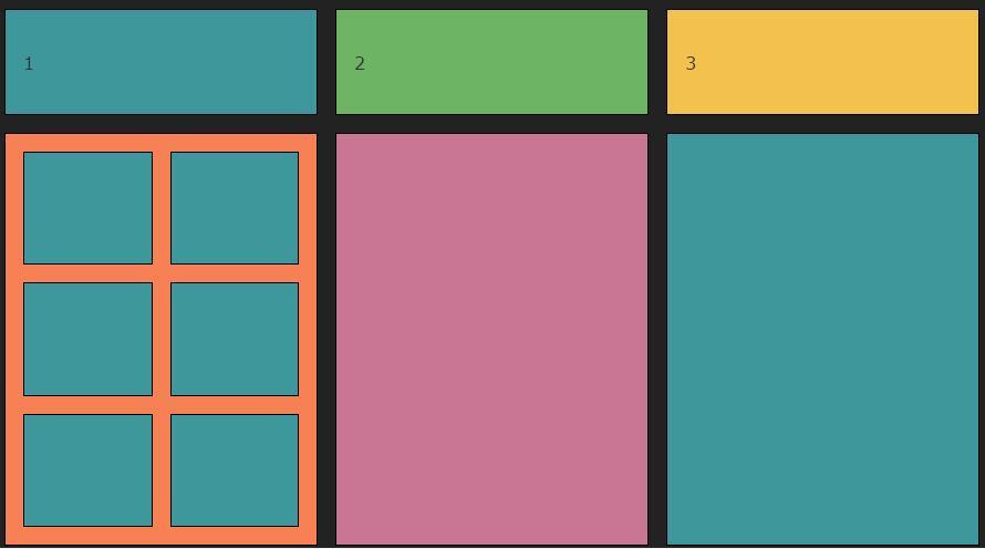 div css网格排版布局自适应浏览器大小样式代码