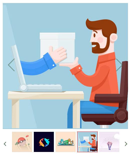 网页大图片和缩略图同步轮播点击时可放大切换预览swiper插件