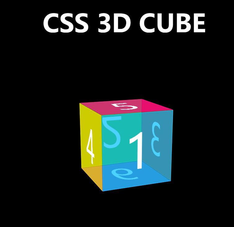 div css 3D立方体透明样式特效旋转动画网页素材