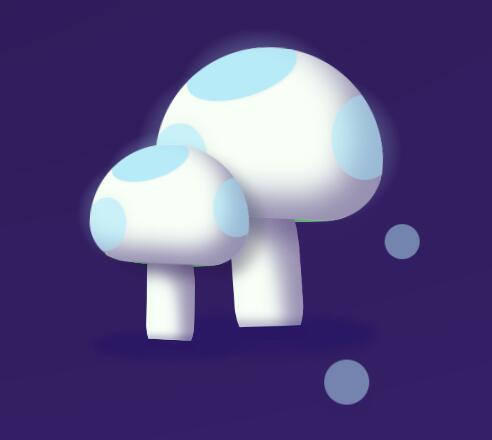 纯CSS3蘑菇3d特效动画样式