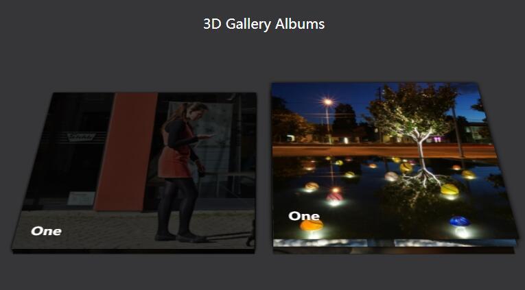 css3 3d图片倾斜圆角鼠标悬浮高亮阴影显示动画效果