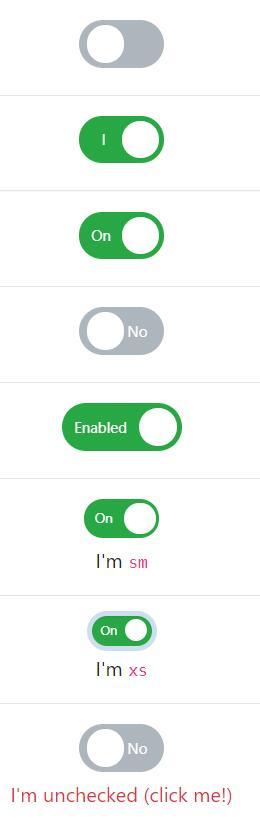 bootstrap CheckBox复选框开关按钮美化特效样式代码