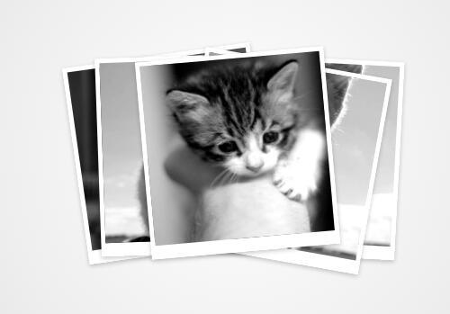 黑白重叠相册图片点击滑动切换显示代码