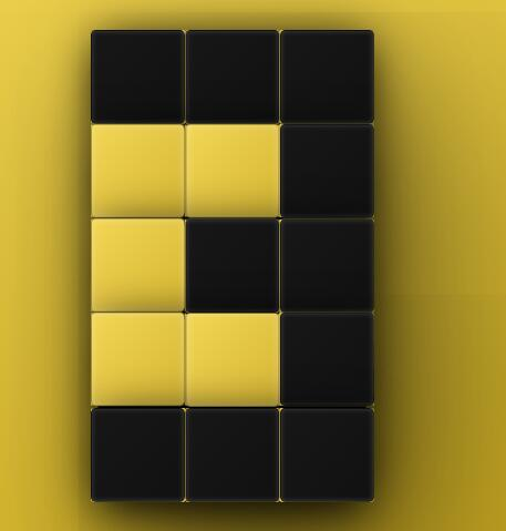 css div立体方块图形翻转动画拼接成数字网页样式代码