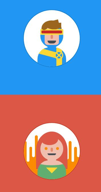 divcss圆形头像动画特效网页样式代码