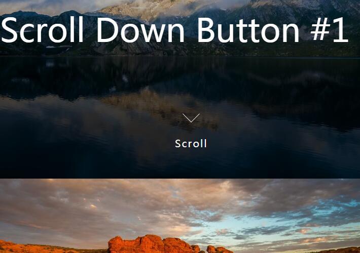 CSS按钮渐变透明度向下滚动html锚点滑动定位插件代码