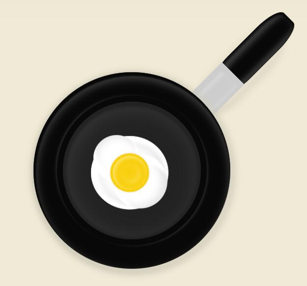 css3样式代码制作平底锅煎鸡蛋特效