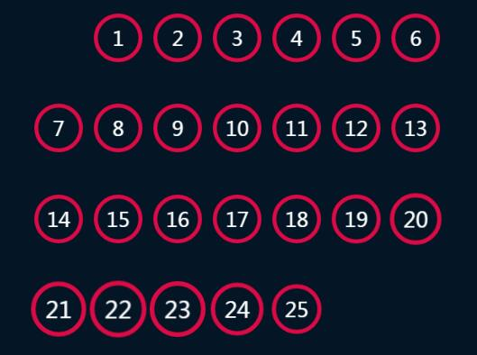 div网格排版布局数字抖动渐变放大缩小特效css3样式代码