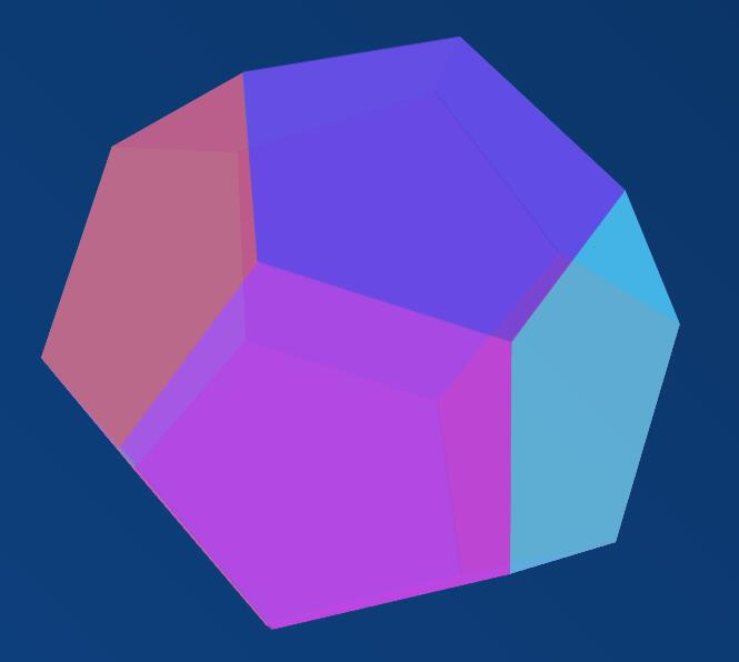 css div多边形组合成多面体动画特效代码