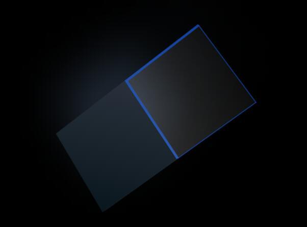 纯css3样式代码制作蓝色阴影3d立体图形翻转动画特效
