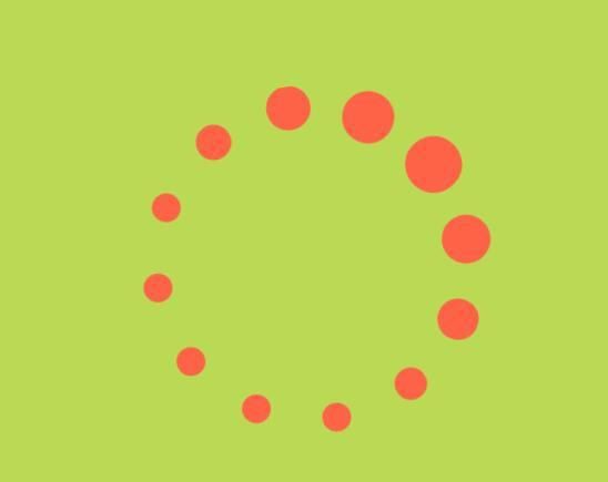 html5css3圆点旋转loading加载动画样式代码