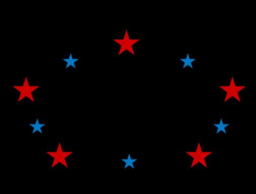 css3选择器代码制作五角星旋转动画若隐如现特效