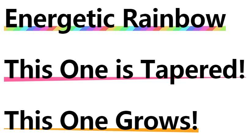 网页文字底部下划线背景颜色线性渐变特效样式代码