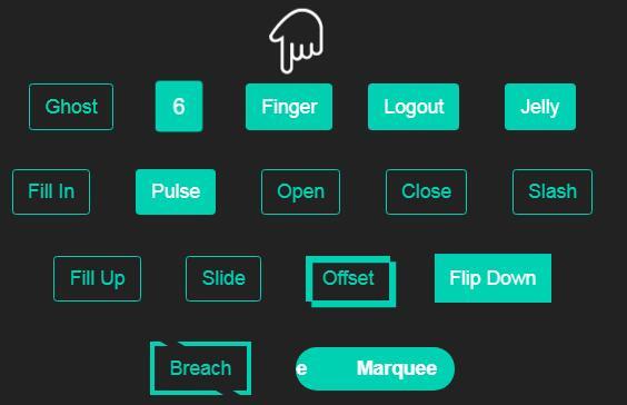多种风格网页button按钮鼠标悬浮动画特效网页样式代码