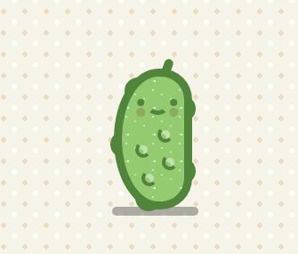 css3网页制作背景代码绘制绿色泡菜特效