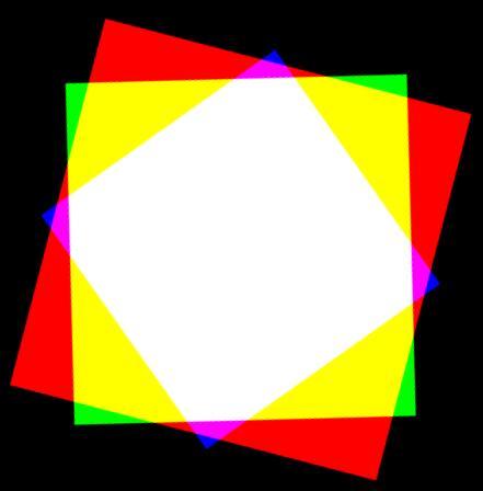 3个不同大小div图形rgb背景色旋转映射出炫丽颜色特效css3代码