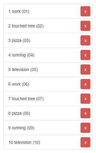 网页数据列表移除功能react插件代码