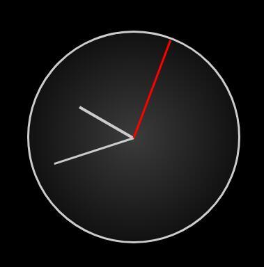 黑色div圆盘挂钟秒表跳动setInterval代码网页素材下载