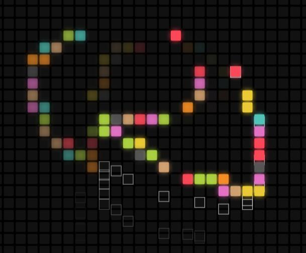 canvas画布网格方块鼠标跟随动画JavaScript html5网页代码