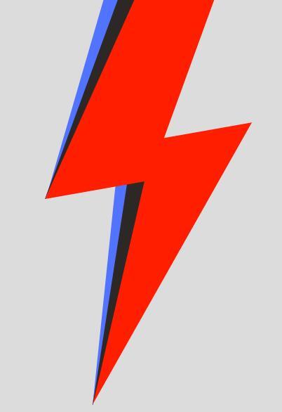 css3 transform属性值绘制红色闪电图标效果