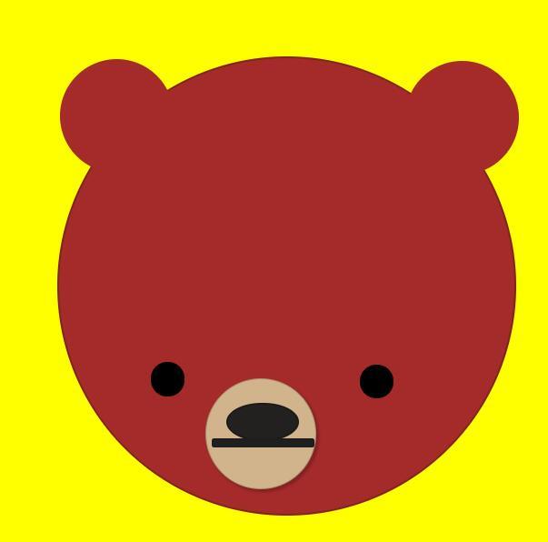 通过css3 box-shadow属性和border-radius属性来制作小灰熊