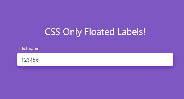 向input文本框输入内容时出现label标签提示的css代码