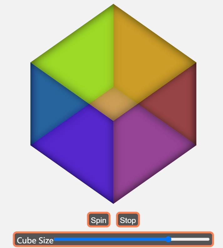 css3 transform属性绘制半透明正方体模型