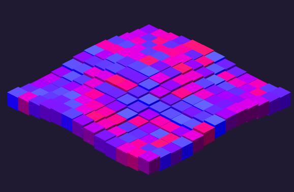 div彩色立体栅格子抖动特效