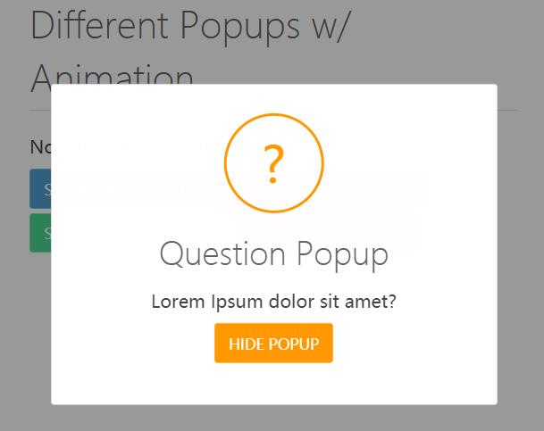 JavaScript原生代码制作Popups动画信息弹出层